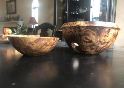 Red Elm Burl Bowls